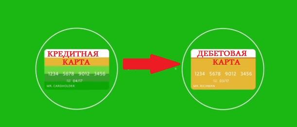 Перевод с кредитки на дебетовую
